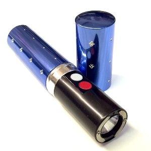 Paralyzér v tvare dámskeho rúžu s LED svietidlom – modrý