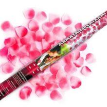Vystreľovacie konfety 60cm – ružové lupienky ruží