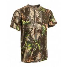 Tričko maskovacie s krátkym rukávom – hardwood zelený