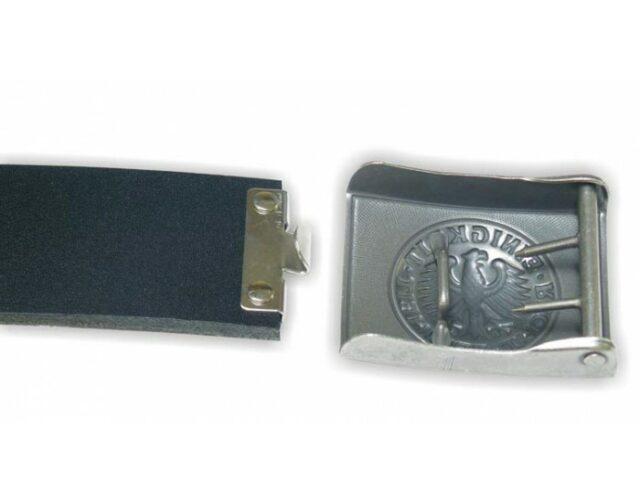 """Opasok originálny Mil-Tec """"BW army"""" služobný dôstojnícky kožený – strieborný"""