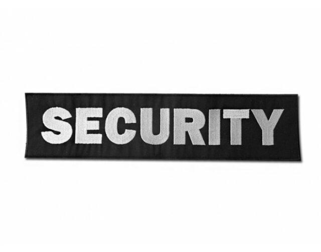 """Označenie """"SECURITY"""" 8×34 cm so suchým zipsom"""