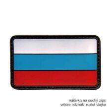 Patch vlajka RUSKO 3D – farebná