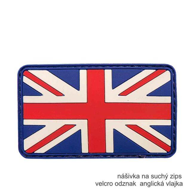 Patch vlajka ANGLICKO 3D