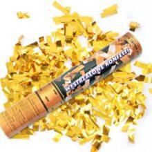 Konfetový výmetník 40cm – zlaté metalické konfety